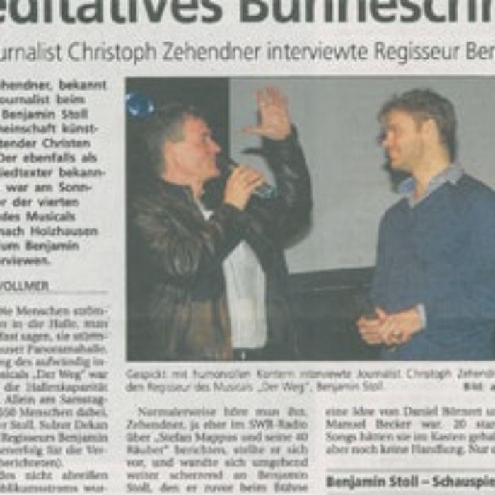 Zeitungsartikel über Benjamin Stoll