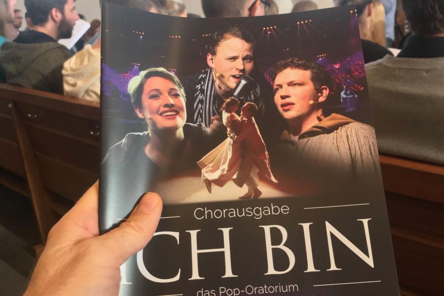 Proben für das Pop-Oratorium ICH BIN in Leipzig mit Regisseur und Schauspieler Benjamin Stoll