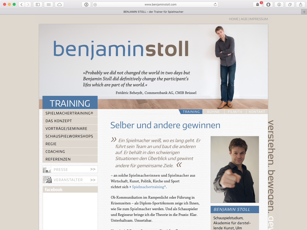 Screenshot der Webseite von 2011