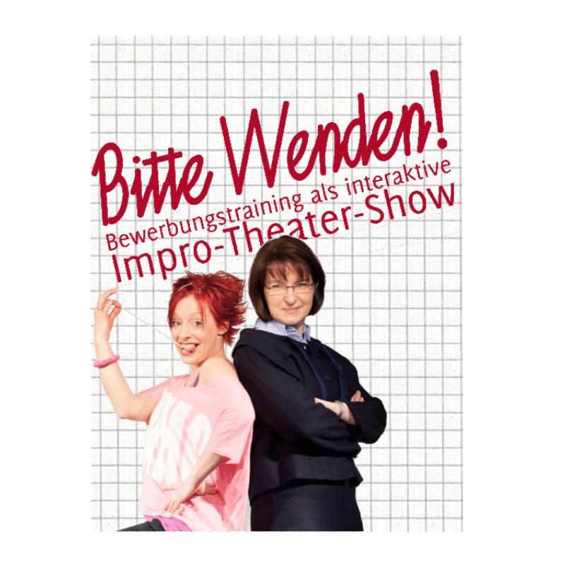Plakat Impro-Theater-Show »Bitte Wenden!«
