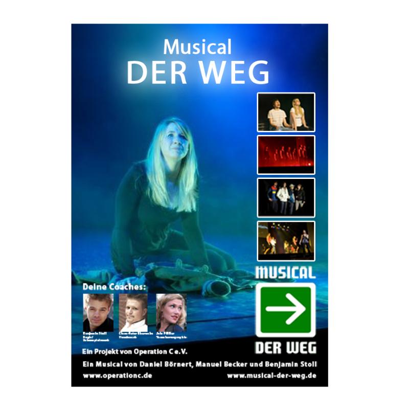 Plakat Musical »Der Weg«