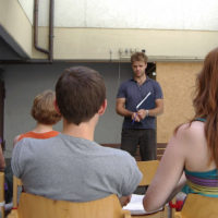 Ausschnitt aus Schauspielworkshop mit Benjamin Stoll
