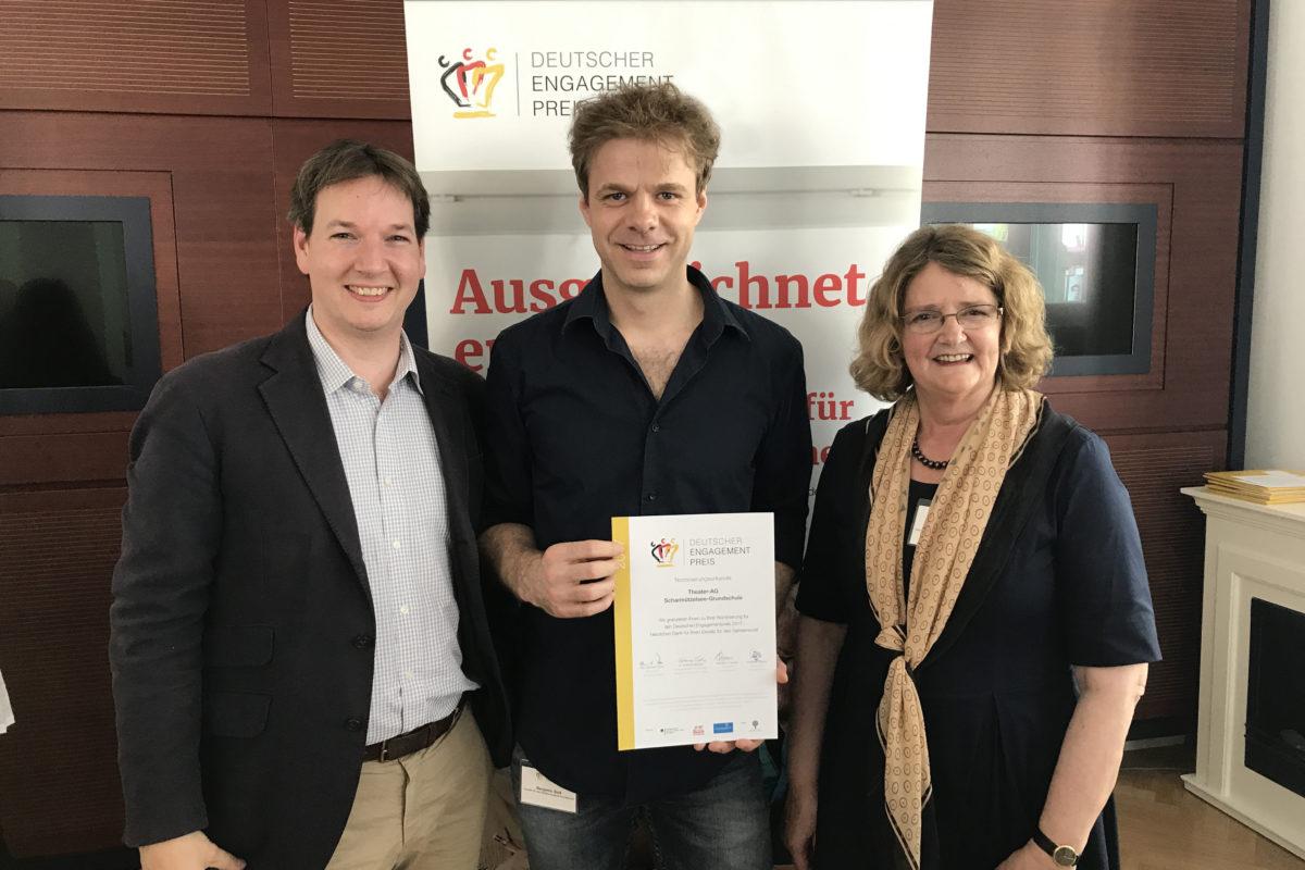 Benjamin Stoll bei der Ehrung der Nominierten für den Deutschen Engagementpreis 2017