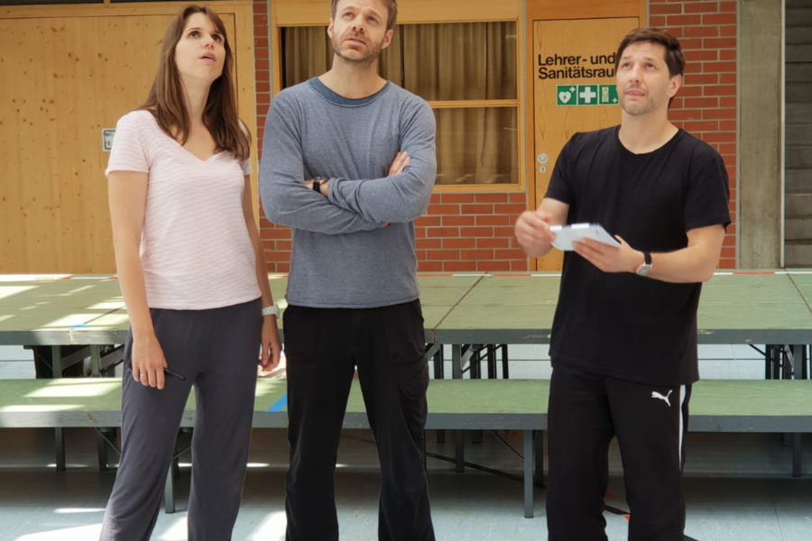 Proben für das Pop-Oratorium ICH BIN in Leipzig mit Regisseur und Schauspieler Benjamin Stoll, Dannie Lennertz und Clarissa Börner