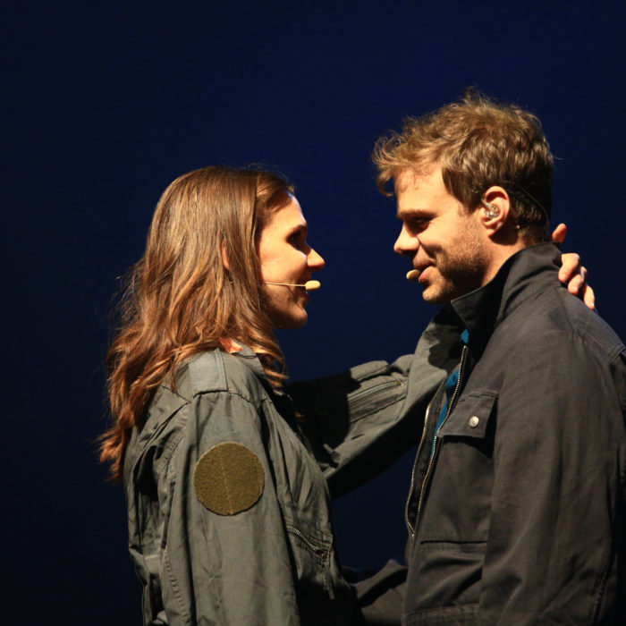 Das Pop-Oratorium ICH BIN in Leipzig mit Regisseur und Schauspieler Benjamin Stoll und Clarissa Börner