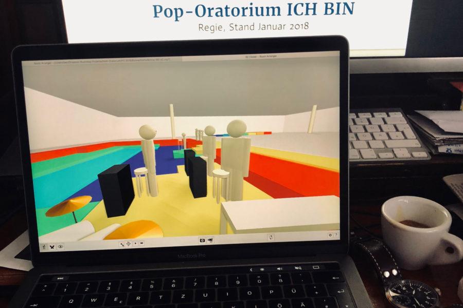 Aufführung des Pop-Oratoriums ICH BIN in Leipzig mit Regisseur und Schauspieler Benjamin Stoll