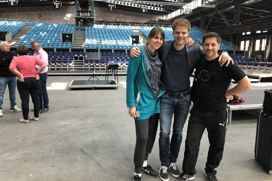 Proben für das Pop-Oratorium ICH BIN in Leipzig mit Regisseur und Schauspieler Benjamin Stoll, Clarissa Börner und Dannie Lennertz